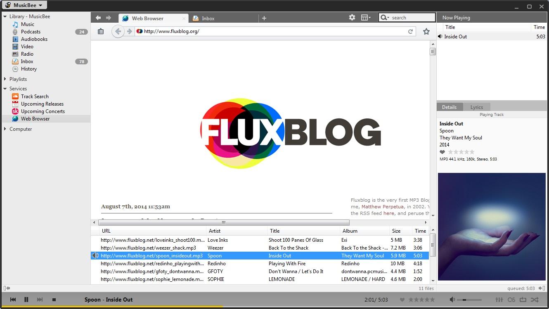 Web Browser/ Mp3 Blog file scanner